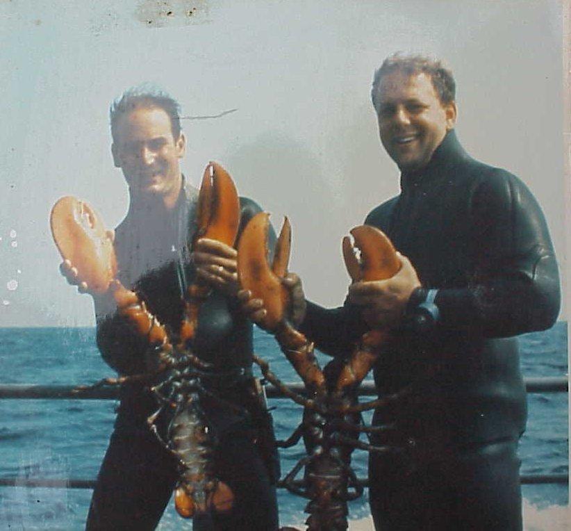 Steve Bielenda & Mike Anisman Lobsters Off Vessel Jess Lu